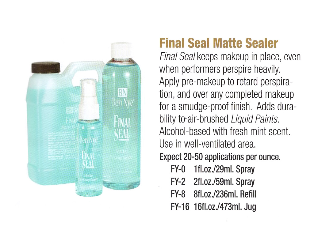Ben Nye - Final Seal Matte Sealer