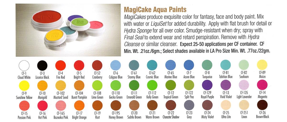 Ben Nye - MagiCake Aqua Paints