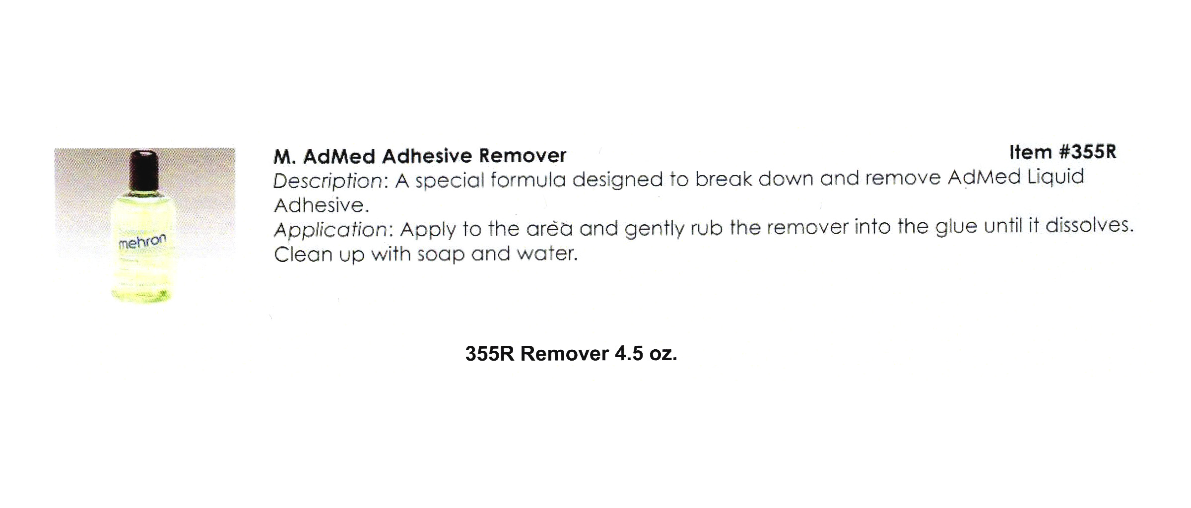 Mehron - AdMed Adhesive Remover