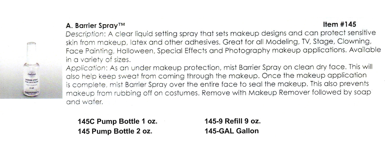 Mehron - Barrier Spray