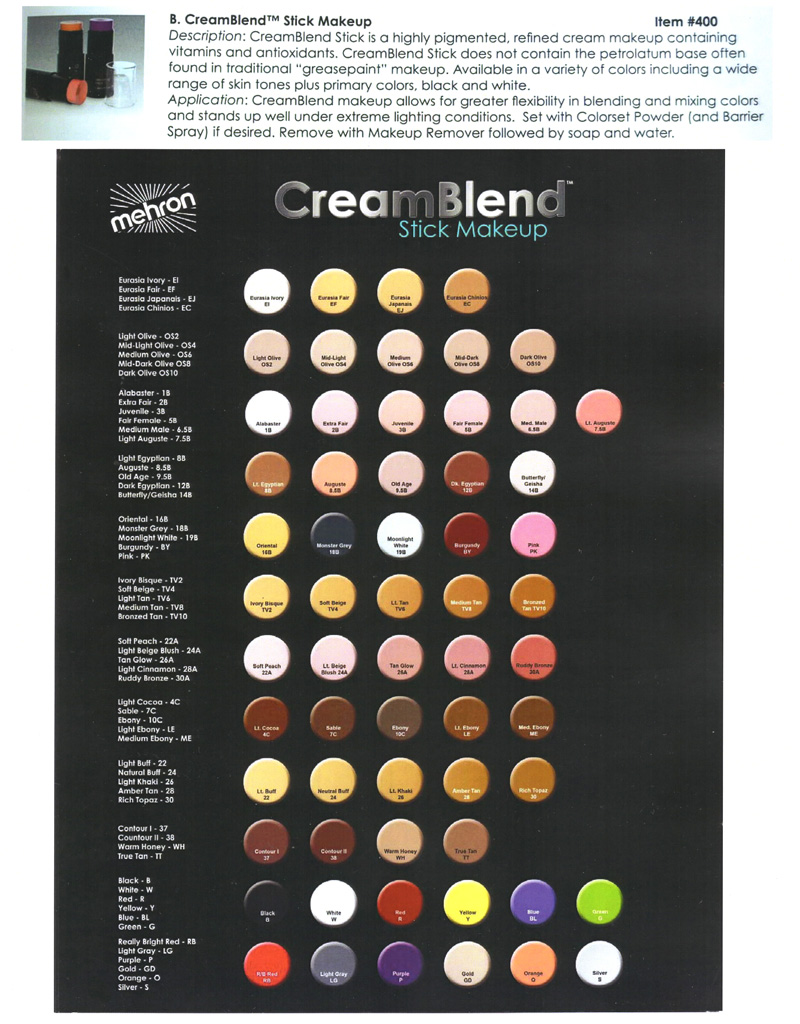 Mehron - CreamBlend Stick Makeup